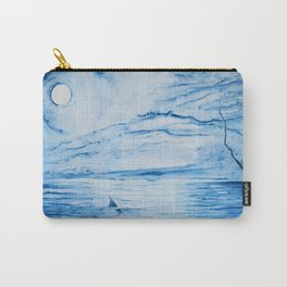 Full moon over shallow water Carry-All Pouch
