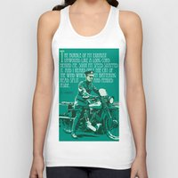 arab Tank Tops featuring T.E. Lawrence on his Brough Superior by Saddle Bums