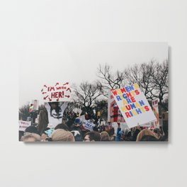 Women's March on the National Mall Metal Print