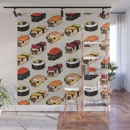 Sushi Pug Wall Mural