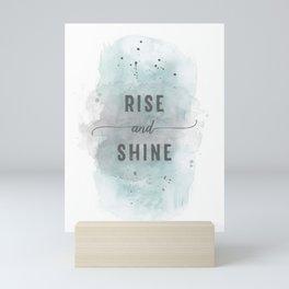 Rise and shine | watercolor turquoise Mini Art Print