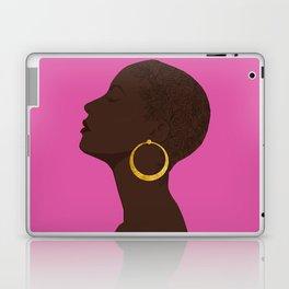 BBLOOMM - Illustration, Floral, Big Chop, Melanin, Pink Laptop & iPad Skin