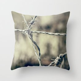 Pointy Droplets Throw Pillow