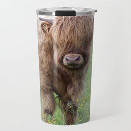 Baby highland cow Travel Mug
