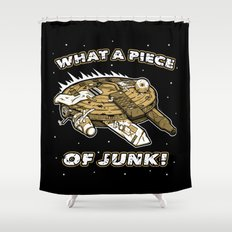 What a Piece of Junk! Shower Curtain