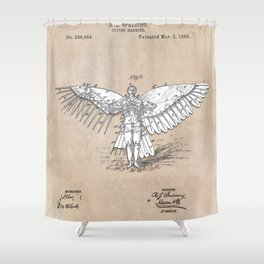 patent art Spalding Flying Machine 2    1889 Shower Curtain