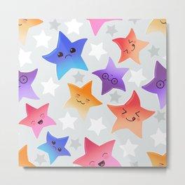 Kawaii stars Metal Print