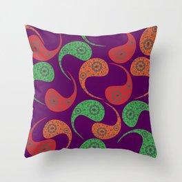 Cool Paisley Throw Pillow