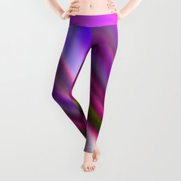 Elegant magenta pink lavender blue abstract pattern Leggings