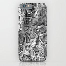 Black & White Snakeskin  iPhone Case