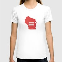 wisconsin T-shirts featuring Wisconsin Love by Tank Top Sunday