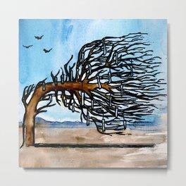 'Opposites' Tree Metal Print