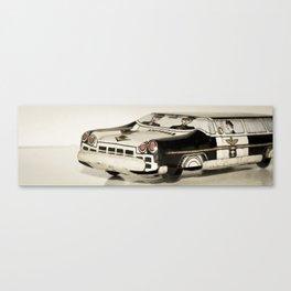 Police car Tin Toy Canvas Print