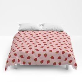 Cute Strawberries Comforters