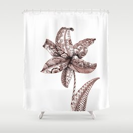 Henna Lily Shower Curtain