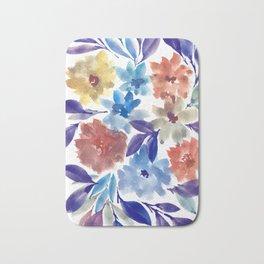 hand painted flowers_3c Bath Mat