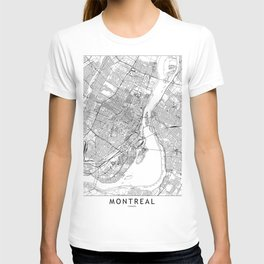 Montreal White Map T-shirt