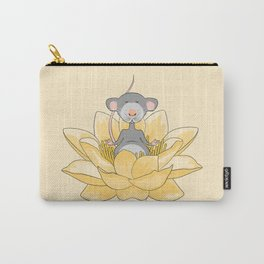 Meditating Mouse Carry-All Pouch