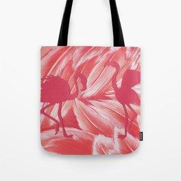 Pink dance of Flamingoes Tote Bag