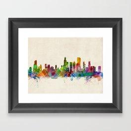 Chicago City Skyline Framed Art Print