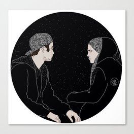 Deep conversations Canvas Print