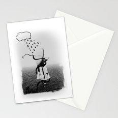 Holding Umbrella Stationery Cards