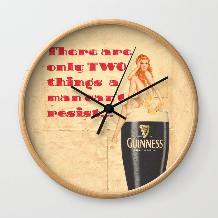 Guinness - Vintage Beer Wall Clock by fernandovieira   Society6
