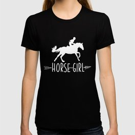 Horse Girl product I Love My Horses Racing Riding Tee Gift T-shirt