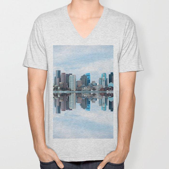 Boston reflection Unisex V-Neck