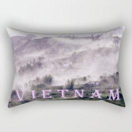 FOGGY FOREST in the VIETNAMESE MOUNTAIN Rectangular Pillow