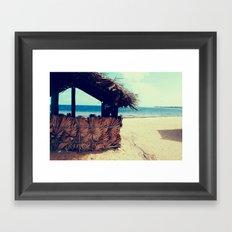 Beach Hut Framed Art Print