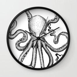 Stippled Octopus  Wall Clock
