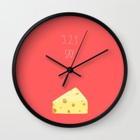 wallet Wall Clocks featuring '3...2..1 Say Cheese!' by aPersonalidea