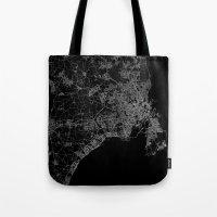 copenhagen Tote Bags featuring Copenhagen by Line Line Lines