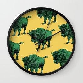 bison pattern Wall Clock