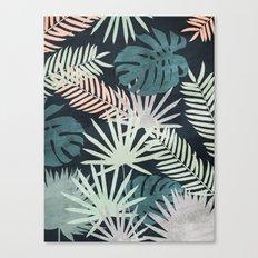 Tropicalia Night Canvas Print