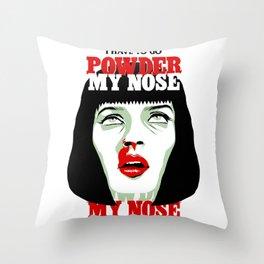 Powder My Nose Throw Pillow