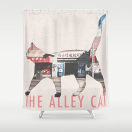 The Alley Cat Shower Curtain