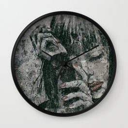 Miss With A Cigarette Wet Vintage 9 Wall Clock