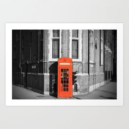 London Calling Red Telephone Phone Booth Art Print