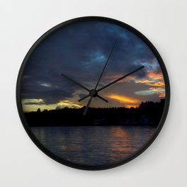 Sunset Panorama... Wall Clock