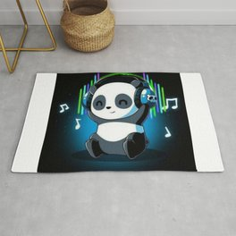 Panda like music Rug