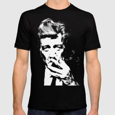 David Lynch smoke Black X-LARGE Mens Fitted Tee