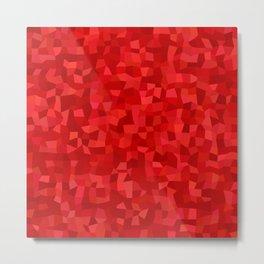 Red rectangle mosaic Metal Print