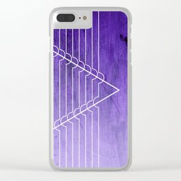 Disrupt - Purple Clear iPhone Case