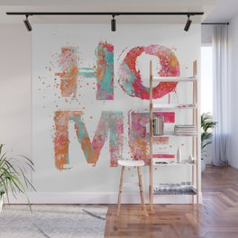 Home grunge artistic Typography Wall Mural