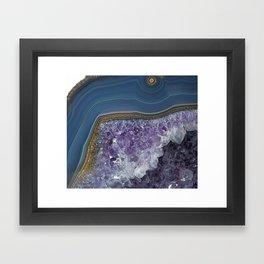 Amethyst Geode Agate Framed Art Print