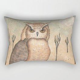 Hoot Owl by Donna Atkins Rectangular Pillow