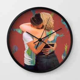 Bec and Isa Wall Clock