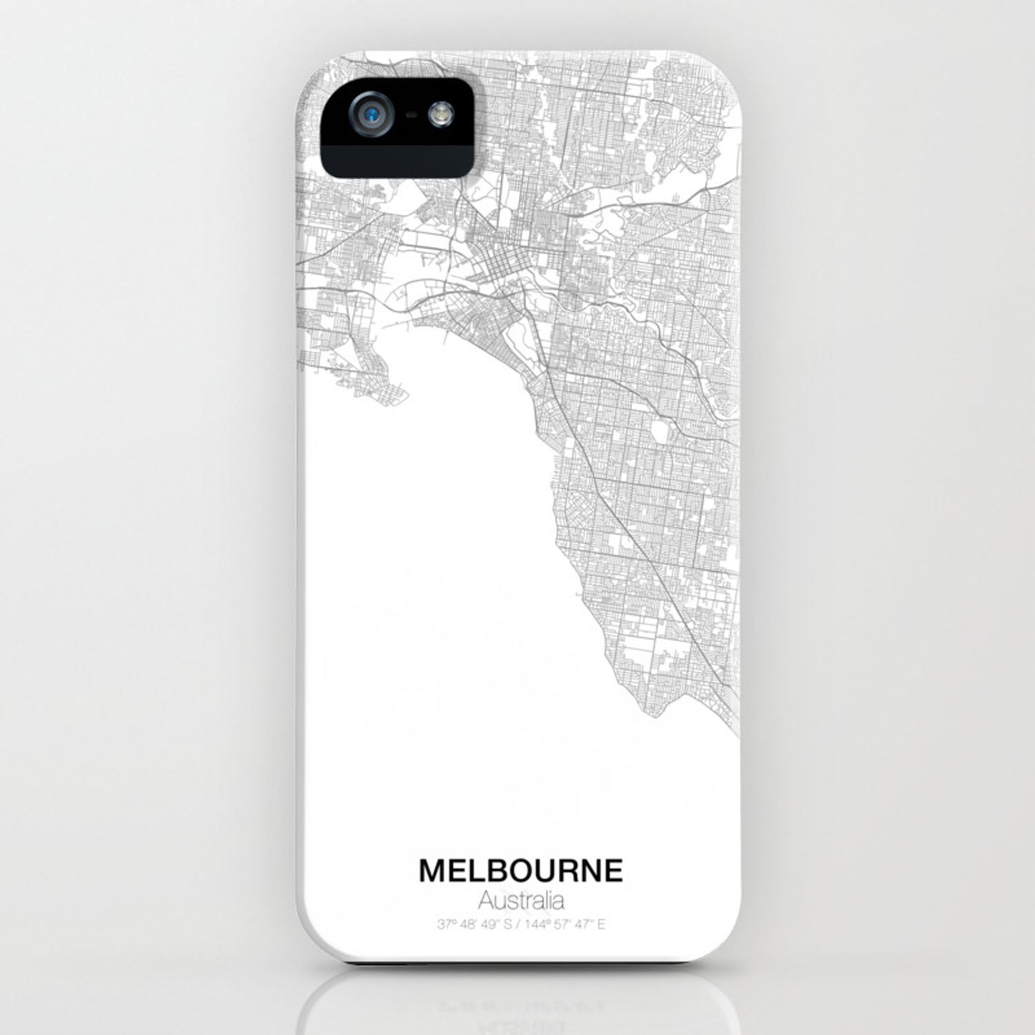 c002159b86 Melbourne, Australia Minimalist Map iPhone Case by resfeber | Society6